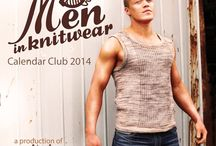 Men in Knitwear / Click on your favourite guy to subscribe to our Calendar Club and enjoy a new man (and the pattern for his knitwear) in your inbox at the start of every month. That's 12 small to medium sized projects on a larger than life man + the bonus cover design; a total of 13 super cool knitting patterns brought to life by our handsome models. We don't want to distract you from the knitwear so the models won't be wearing loads of other clothes. You'll never forget an appointment again!
