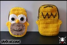 Hoodiegan crochet wallets/pouches