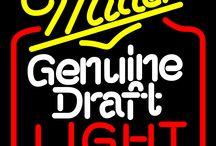Miller MGD Neon Beer Signs