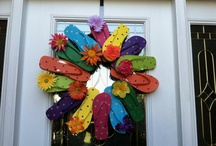 wreaths - adorn the door / by Darcy Holsopple