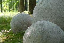 Concrete balls - garden things