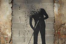 Graffiti painting onthe wall