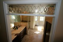 Glass transom and doors