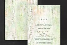 Wedding In The Woods / Forest Wedding Inspirations and stationery
