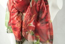 Waratah - Australian Native / The waratah is a probably the most recognized of all Australian native wildflowers. This silk scarf shows off the brilliant colour that makes this flower so famous.