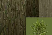 Textureㅣ wood,grass