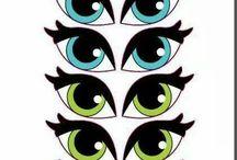 olhos adesivos para impressão
