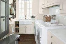 Home Decor Inspiration / Home decor inspiration for laundry/mudrooms.