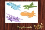 "Airplane - Clip Art / NADEZHDA STUDIO Graphic design Studio ""Fresh idea"""