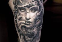 Indian Girl Tattoo Drawing