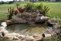 cascadas en jardin