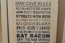 Man Cave!  / Because EVERY guy should have one / by AJ Hernandez