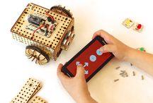 LOFI Robot / DIY robots made with Lo Fi Robot blocks - opuen source robotics system designed at Fab Lab Tricity