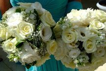 Tiffany Blue Wedding / Diamonds are a girl's best friend and so are beautiful wedding bouquets to compliment her Tiffany Blue and white wedding theme.