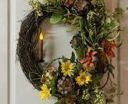 Flowers and wreath arrangements