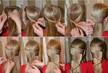 Hairdos and Fancy Hair Styles / Lots of ideas for those of us with girls that have long beautiful hair.  Hairdos and Hairstyles galore from ideas for all lengths too!  / by The Thrifty Couple