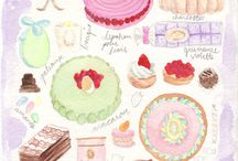 Patisserie illustrations