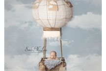 Newborn Baby, poses and pictures / Fantasy newborn portraits with digital backgrounds and backdrops. Movie, imagine, fantasy, fairytale baby, baby photos prop shots, custom portrait, horses