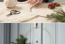Wreaths / Modern front door styling