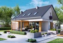 HomeKONCEPT 23 | Projekt domu / Projekt HomeKONCEPT-23 to kolejna propozycja kompaktowego, nowoczesnego domu, którą kierujemy oszczędnym Inwestorom. Zwarta bryła, dwuspadowy dach oraz niewielka powierzchnia użytkowa przełoży się na niski koszt budowy. Wnętrze tego domu zaprojektowano w sposób przemyślany, by maksymalnie wykorzystać przestrzeń i zapewnić wygodę oraz komfort użytkowania.