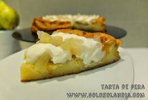 Tarta de pera / Tarta de pera Muy fácil receta de tarta de pera al horno  http://www.golosolandia.com/2014/10/tarta-de-pera.html