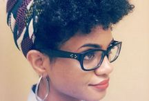 Short Afro styles