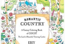 Romantic Country colouring book