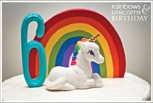 unicorns & rainbow party ideas