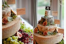 "Cheese Wedding Cakes / A ""cheese wedding cake"" or ""cheese tower"" is a selection of cylindrical cheeses, designed to  resemble a traditional wedding cake. I love making bespoke cheese cakes for our customers, and have just realised that lots of my past creations have been pinned! So now I'm starting my own board dedicated to the Cheese Wedding Cake!"
