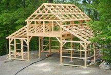 Dřevo stavby střechy