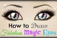 HOW TO DRAW EVIL EYES STEP BY STEP