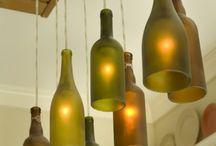 luminárias recicláveis e molduras recicláveis