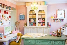 Awesome Sewing Rooms / by Lola Pink Fabrics