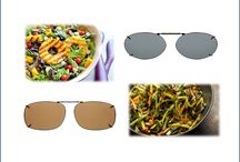 Salads and Solar Shield Clipons / Light, good for you and great looking....the salads and the Solar Shield Clipons.   Polarized, 100% UVA/UVB Protection. Wear over your glasses. www.solarshield.com