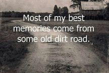 country living, farm and dirt roads