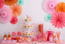Party and dessert table ideas / Decoration and DIY party ideas
