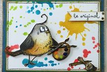 Crazy Birds by Tim Holtz! / Ok, these guys are growing on me! A collection of projects featuring TH Crazy Bird stamps