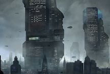 Futuristic City Concept Art