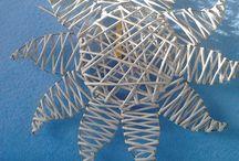 Pletení z papíru - dekorace