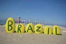 BRASIL - BRAZIL on stones