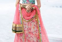 Classic Floral Lehenga Choli / An array of classic #lehenga #choli , #floral #prints and #embroidery most suitable for #summer #wedding functions like #mehendi or #sangeet.Take your pick at www.panashindia.com