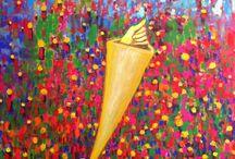 My work / Le mie opere pittoriche. Visitate il mio sito web www.juanitalubanrubio.ch per maggiori informazioni.