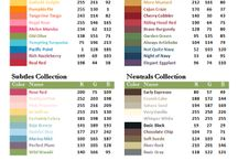 stampin up color codes