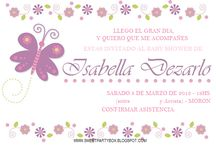 tarjetas de baby shower con mariposas