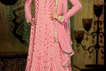 Partywear Churidar Suits - dif-29260 / Partywear Churidar Suits with thread embroidery