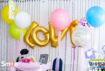 Love / Adorable Love letters & big balloons with confetti