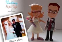 Wedding Paper Toys / Nuestros amigos y clientes nos piden nuestros Paper Toys para regalar en bodas. Tanto a novios, como ellos a sus amigos. Y estos son los resultados.