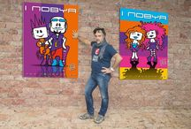 #NOBYA #ESPEN / i pupazzetti #nobya della #espenfumetti creati nel 2007 e fatto il restyling nel 2014