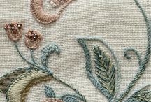 Crewel / Jacobean Embroidery, patterns and inspiration