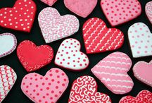 {Decorative Valentine Iced Cookies} / Iced sugar cookies / by Karen Panian